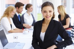 business-woman-table-group